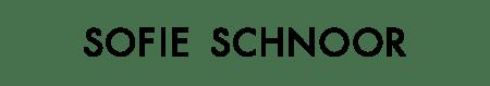 Sofie Schnoor - Logo